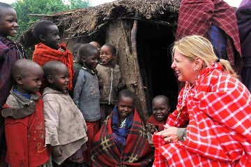 A picture of Suzette Munson ministering to 