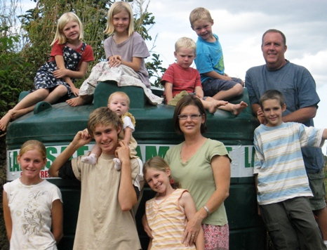 A picture of the ten member Walker family in